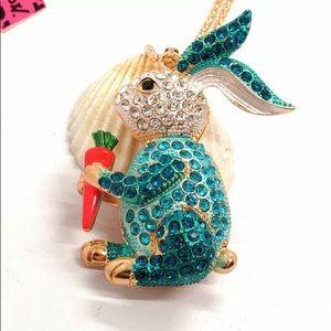 BETSEY JOHNSON ~Bunny Pendant Necklace